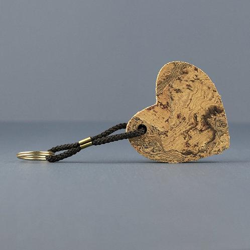 Cork Keyring | Heart