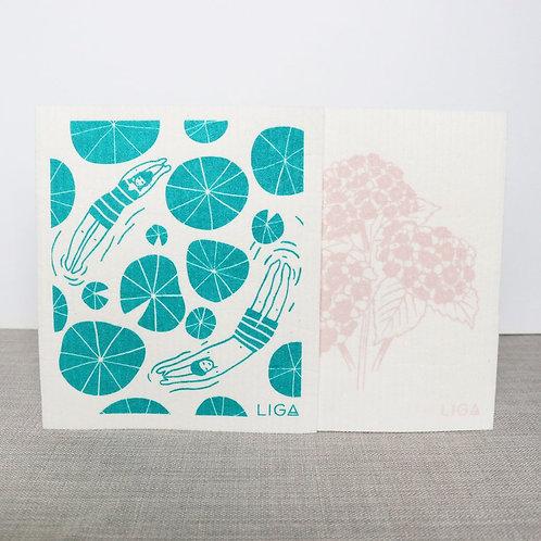 Eco Dishcloths | Wild Swimmers & Hydrangea