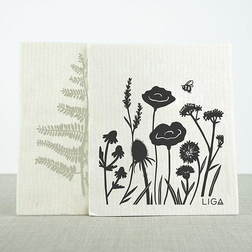 Eco Dishcloths   Wildflowers & Fern