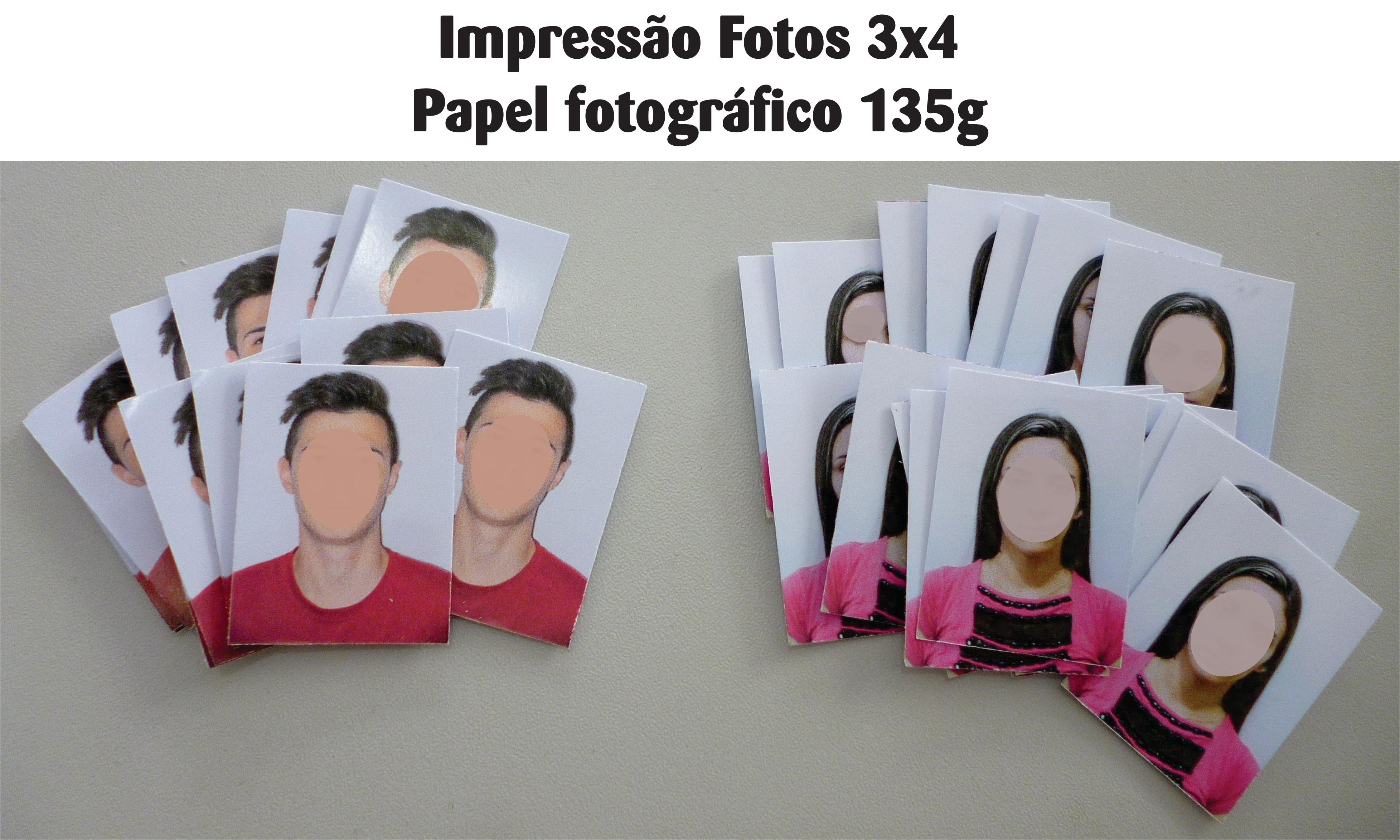 FOTOS 3x4 PAPEL FOTOGRÁFICO 135g
