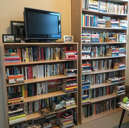 Bookcases in the lady cave
