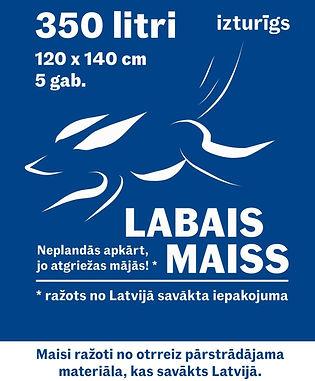 Labais Maiss atkritumu maiss ražots no Latvijā savākta iepakojuma 350L