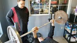 bossman lifting wieghts matt spots