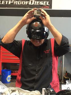 Bossman with helmet