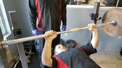 josh lifting weights