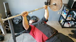 albert lifting weights