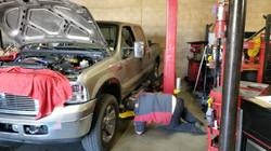 albert working on truck