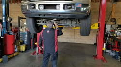 bossman working on truck