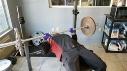 Matt lifting weights