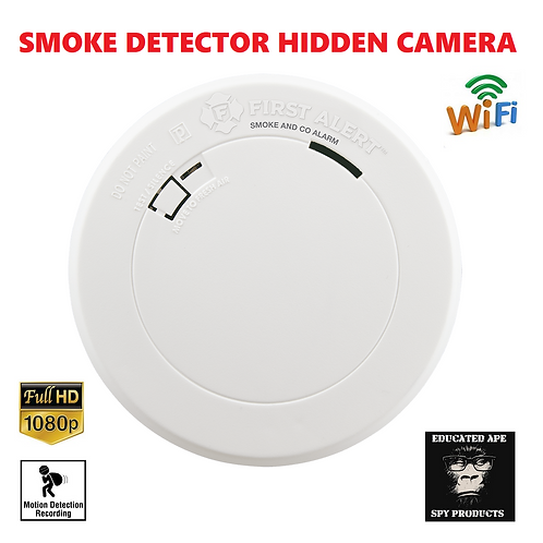 SMOKE DETECTOR HIDDEN WI-FI CAMERA