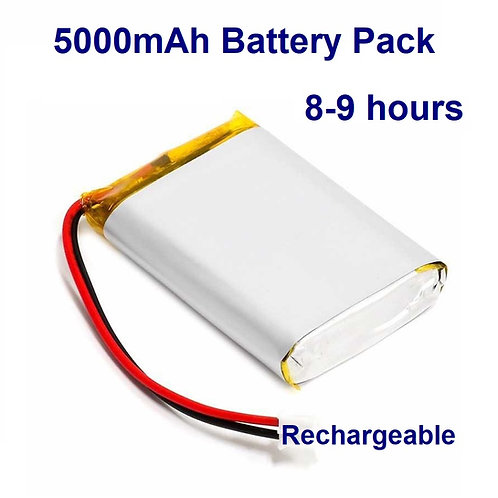 Battery Pack - 5000mAh for 8-9 hours