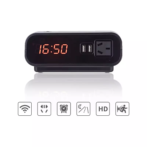 Smart Alarm Clock Hidden WiFi Camera