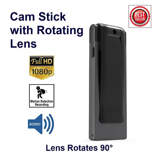 Cam Stick 1080P w/ Rotating Lens