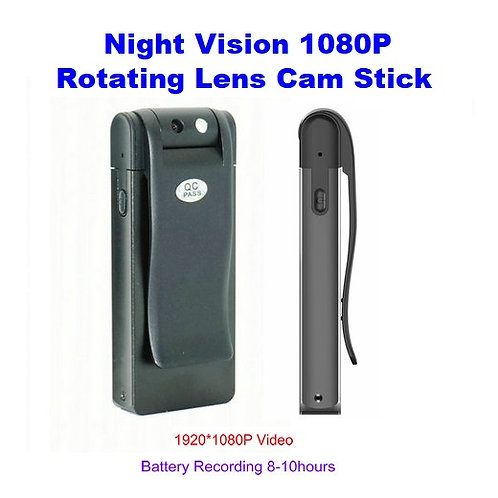 Night Vision Cam Stick 1080P w/ Rotating Lens