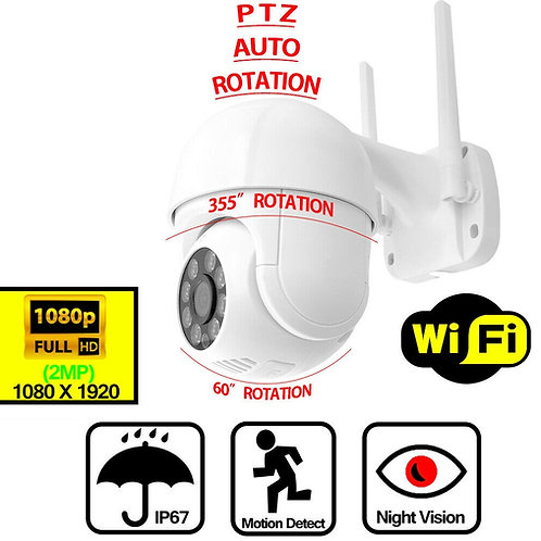 Wireless Smart Security Camera - PTZ - Night Vision