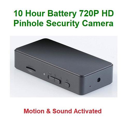 720P HD Pinhole Surveillance Camera / Motion - Sound Activated