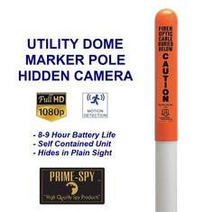 Utility Round Dome Marker Pole Hidden Ca