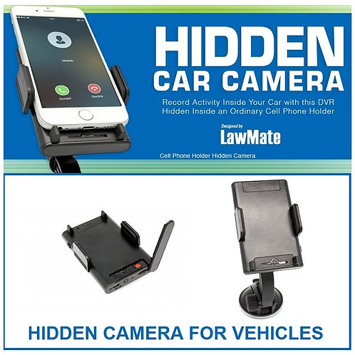 LawMate Car Smartphone Holder Hidden Camera
