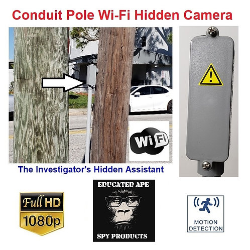 Conduit Pole Hidden Wi-Fi Camera - Wide Angle
