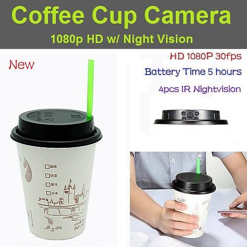 Coffee Cup Night Vision Hidden Camera