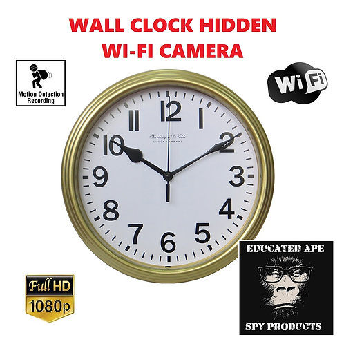 Wall Clock Hidden Wi-Fi Camera