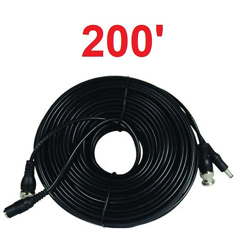 All in One Power & Video Camera Cables - 200'