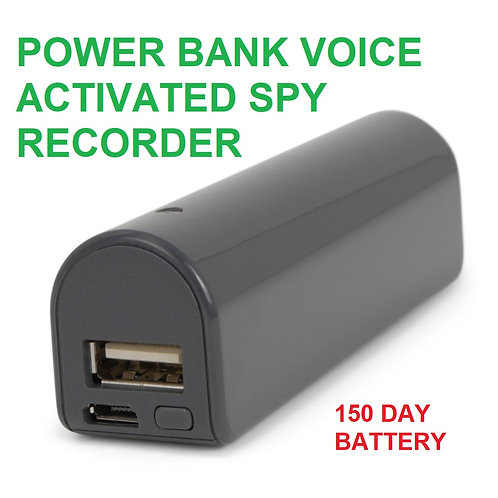 POWER BANK VOICE ACTIVATED SPY RECORDER