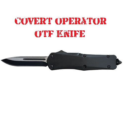 Covert Operator OTF Knife - Heavy Duty - Single Edge