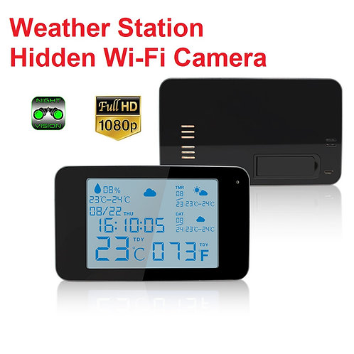 Wi-Fi Weather Station Hidden Camera w/ Night Vision