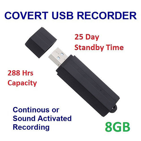 Covert USB Recorder - 25 Day Standby