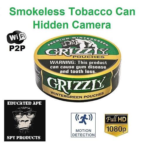 Smokeless Tobacco Can Hidden Camera - P2P HotSpot