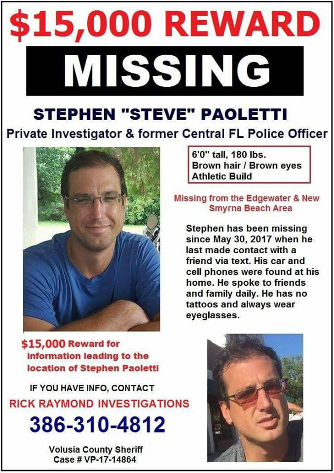 Missing Private Investigator from Central Florida