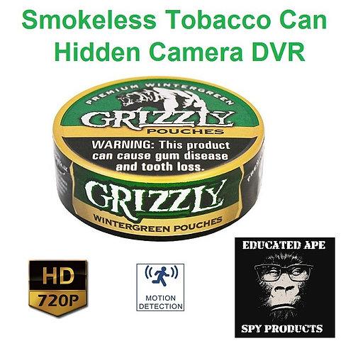 Smokeless Tobacco Can Hidden Camera DVR