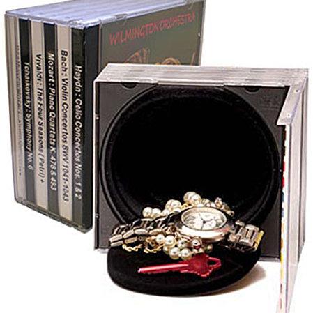 fake stack of cd hidden safe