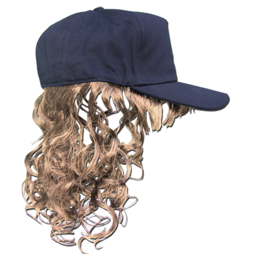 Hat with Fake Hair - Blonde