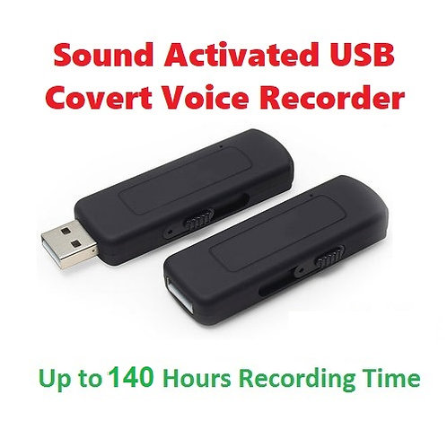 Voice Activated USB Drive Recorder - 140 hr