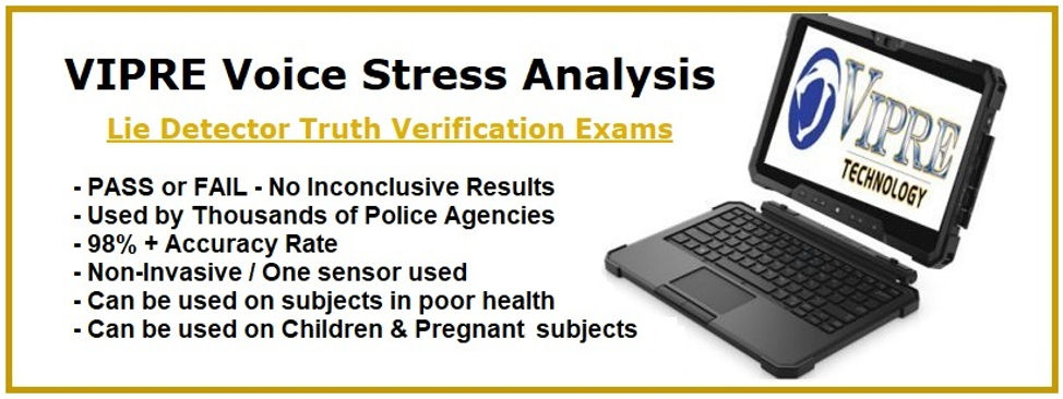 Daytona Beach Lie Detector Tests, Voice Stress Analysis, Volusia County, Flagler County