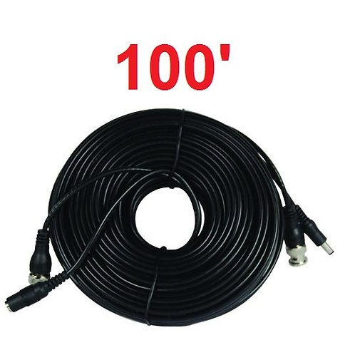 All in One Power & Video Camera Cables - 100'