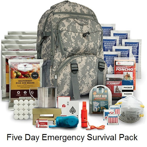 Five Day Emergency Survival Kit - Camo