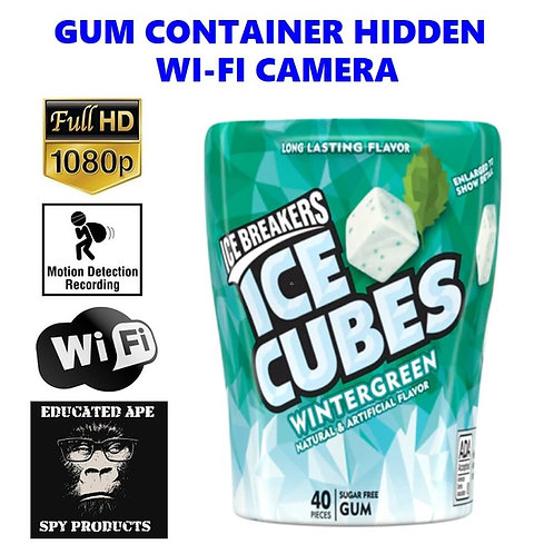 Gum Container Hidden Wi-Fi Camera