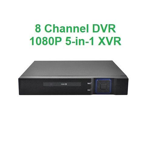 8 Channel DVR 5-in1 XVR 1TB HDD