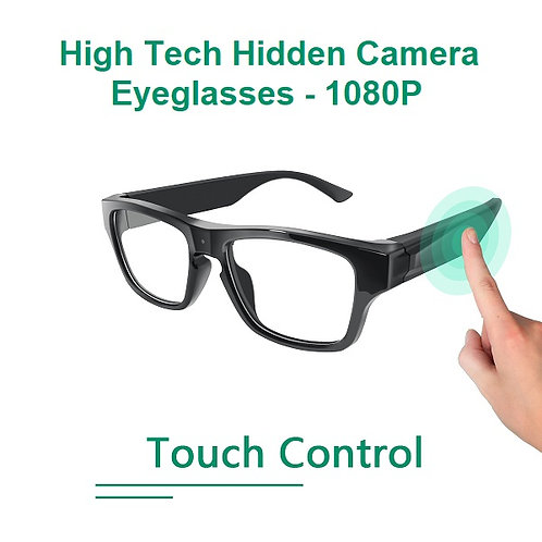 Touch Control Eyeglasses Hidden Camera - 1080P