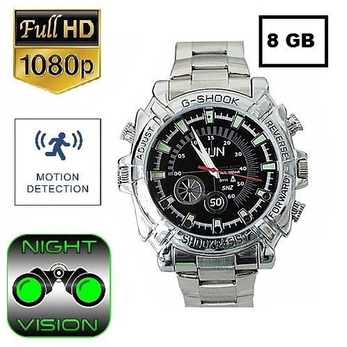 Spy watch hidden camera with audio