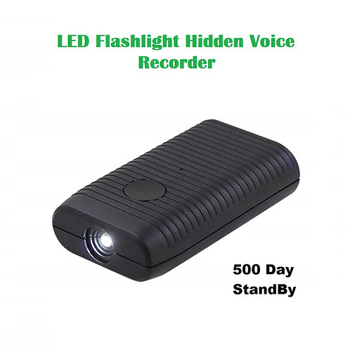 LED Flashlight Hidden Voice Recorder - Magnetic