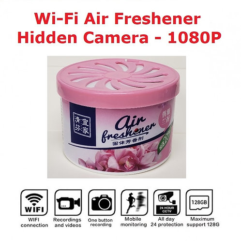 Wi-Fi Air Freshener Hidden Camera - 1080P