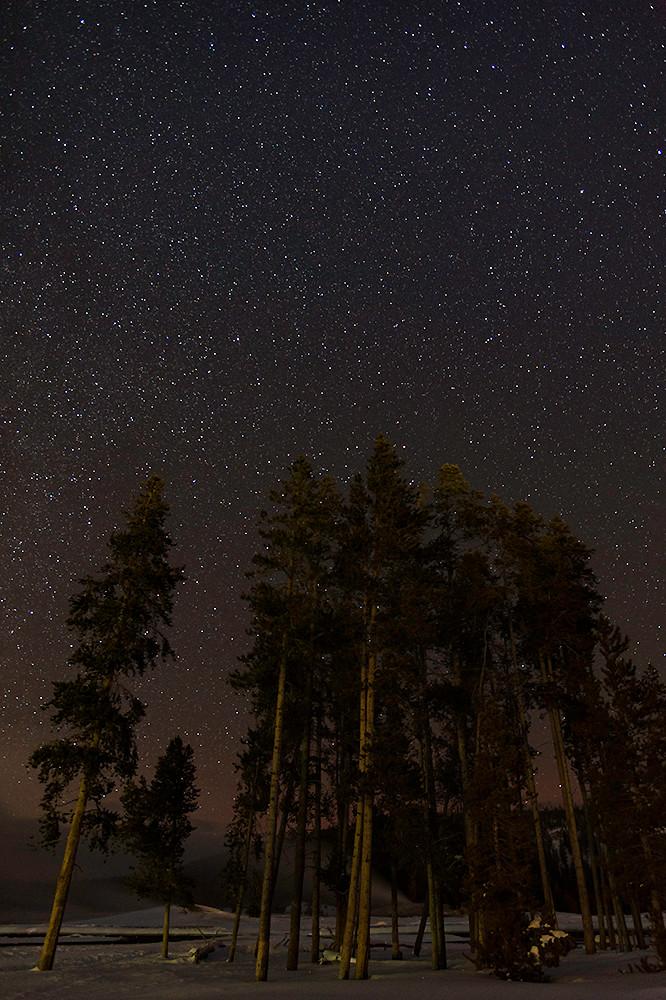 Stars over Old Faithful