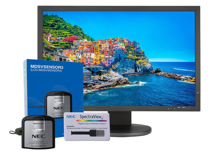 NEC PA243W monitor and calibration sensor kit