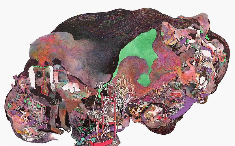 """""""Barbiturates"""" (paper, mixed media) 81x51 cm, 2330 $"""