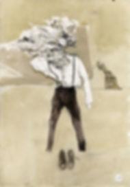 """After me"" (paper, mixed media) 29x21 cm,  795 $"