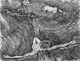 """Jesus"" (paper, etching) 17x14 cm, 400 $"